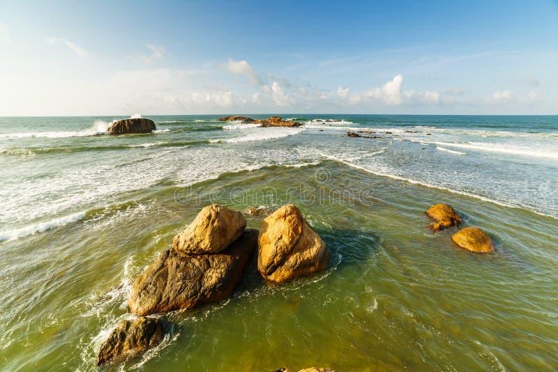 Bah?a de Galle en la costa del sudoeste de Sri Lanka fotos de archivo libres de regalías