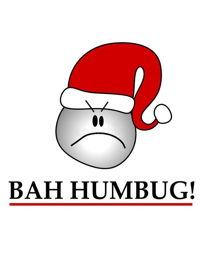 Bah Humbug die Smiley Hoed draagt royalty-vrije illustratie