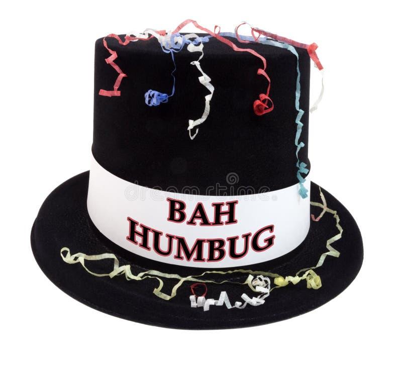BAH humbuga świętowania Odgórny kapelusz zdjęcia stock