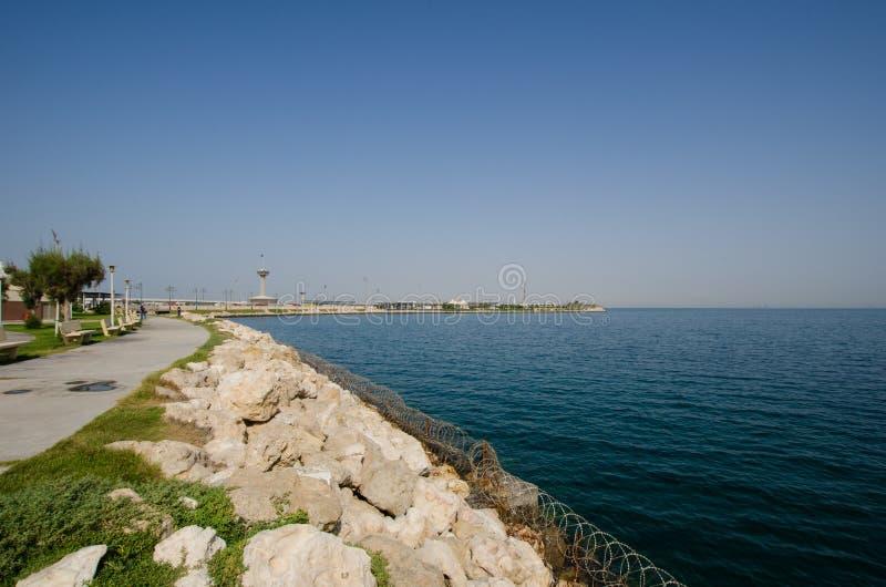 BAH-KSA堤道 免版税库存照片