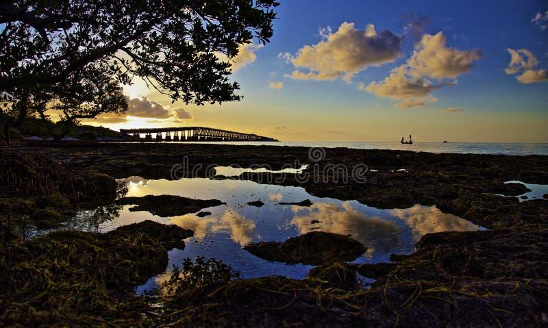 Baha Honda Florida sunrise royalty free stock photo