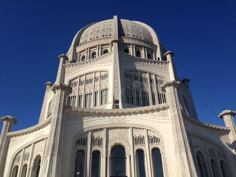 Baha'i hus av dyrkan royaltyfria foton