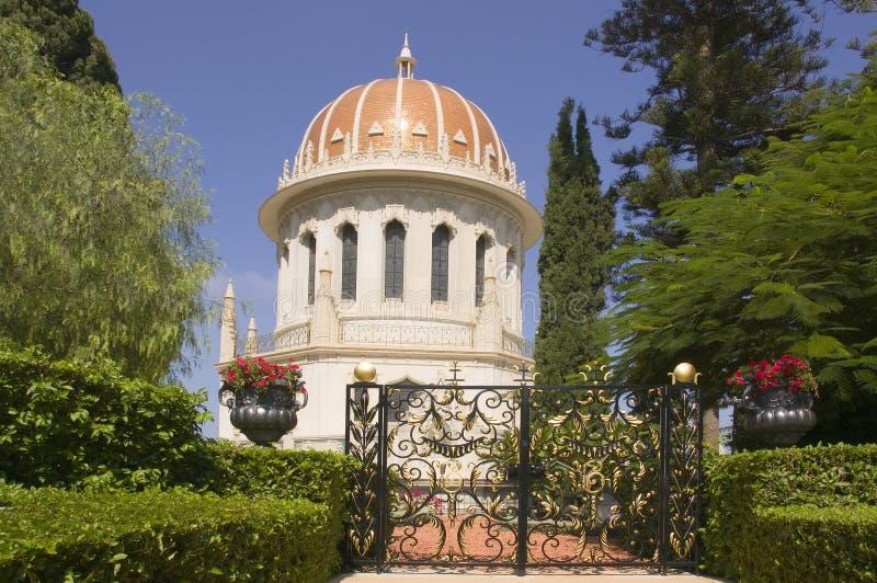 Baha'i Tempel in Haifa stockfotografie