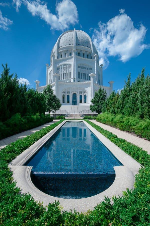 Baha'i tempelhus av dyrkan royaltyfria foton