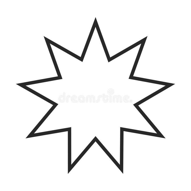 Bahai标志象 皇族释放例证