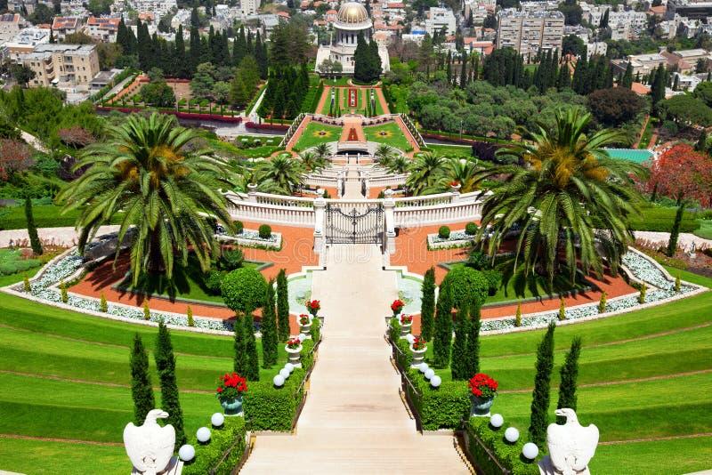 bahai садовничает haifa Израиль стоковая фотография rf