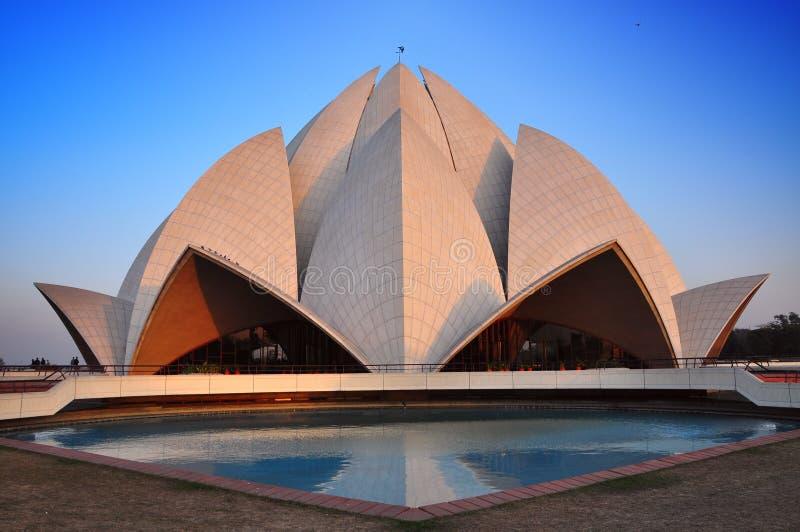 bahai Delhi ind lotosowa nowa świątynia fotografia stock
