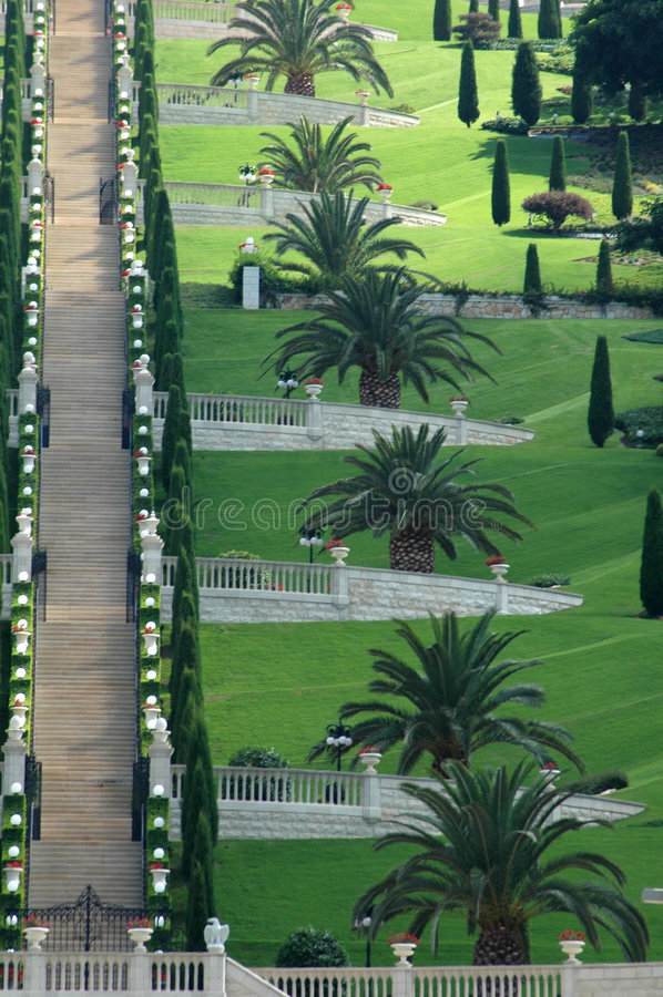 Bahai Gärten stockbilder