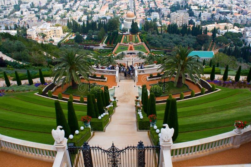 Bahai Gärten stockfoto