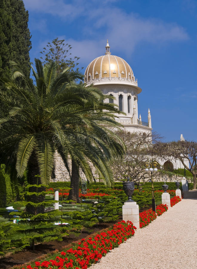 Download Bahai gardens stock photo. Image of architecture, golden - 25162388
