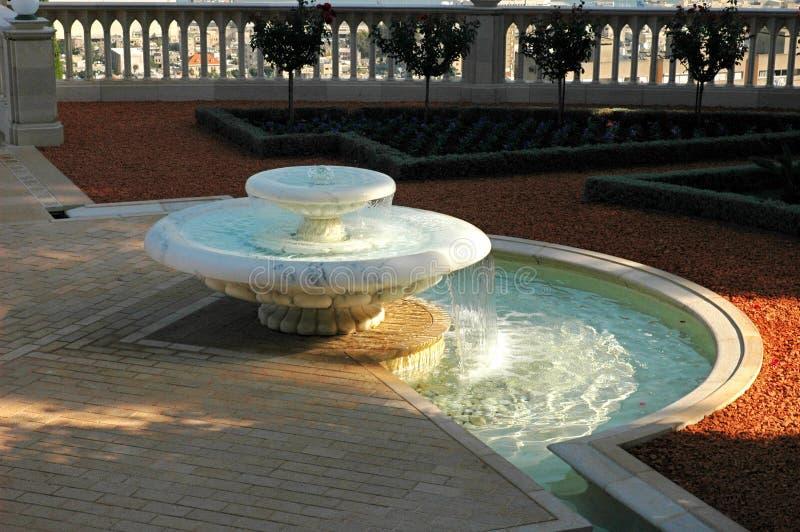 Bahai gardens-Haifa-fountain stock photography