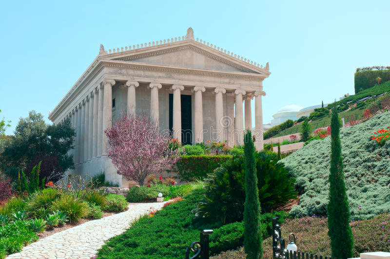 Bahai gardens, Haifa, Israel. royalty free stock photos