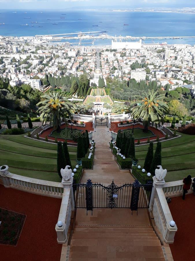 Bahai-Garten Israel stockbild