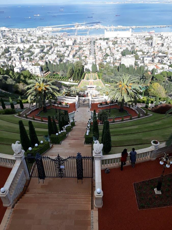 Bahai-Garten Israel stockfoto