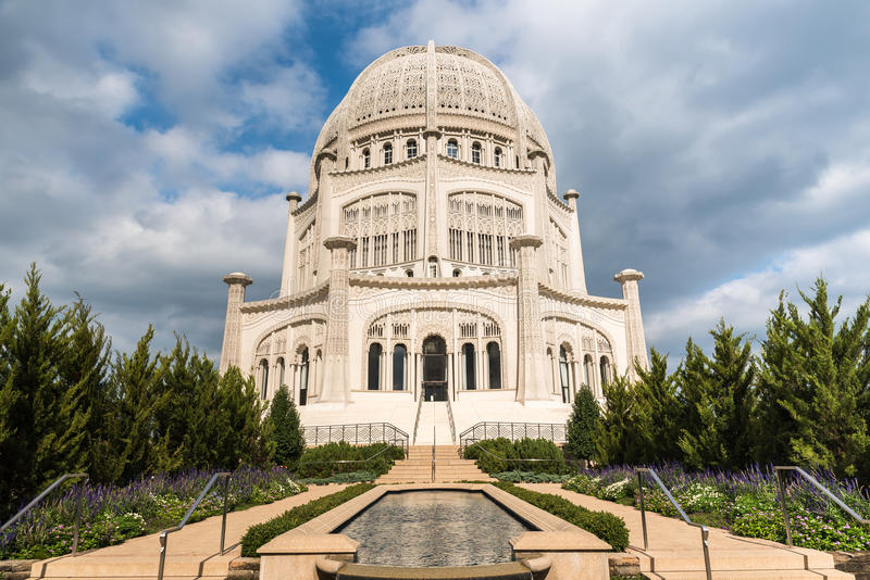 Bahai hus av dyrkan royaltyfri foto