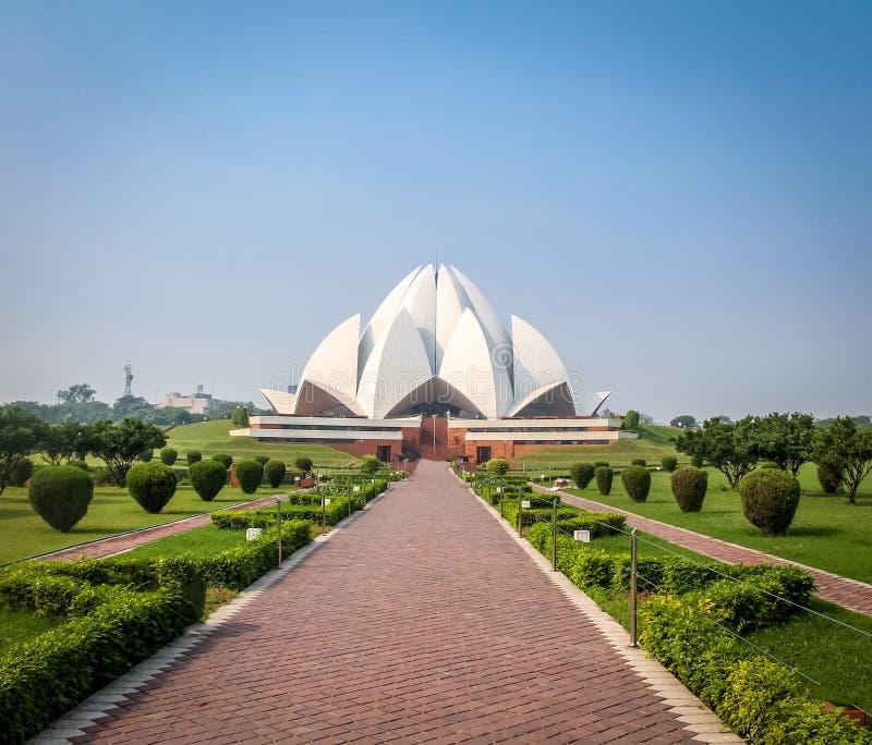 Bahai Lotus Temple - Nueva Deli, la India imagenes de archivo