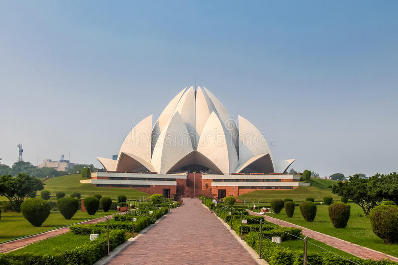 Bahai Lotus Temple - Nuova Delhi, India fotografia stock