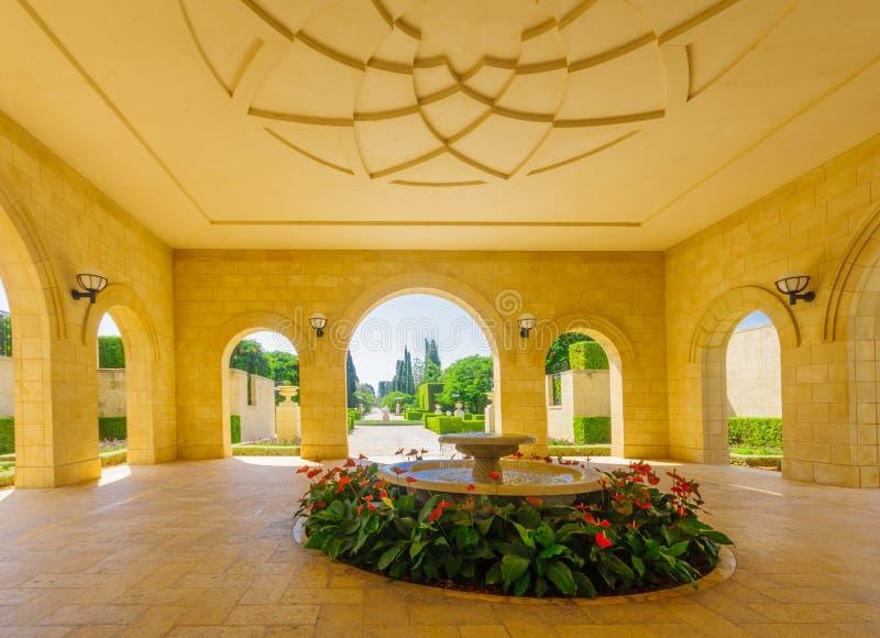 Bahai ogródy w akrze Akko, obrazy royalty free