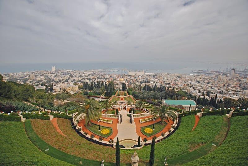 Bahai ogródy w Haifa Izrael fotografia stock