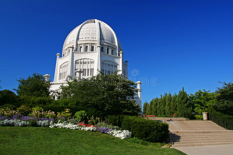 Bahai tempel i Chicago, IL, USA royaltyfria bilder