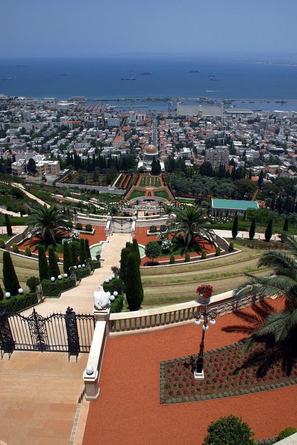 Download Bahai temple & gardens stock photo. Image of gardens, haifa - 1716026
