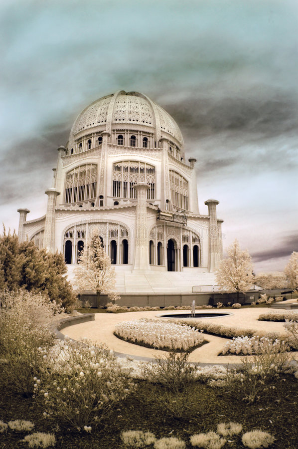 Download Bahai Temple in Illinois stock photo. Image of garden - 2724956