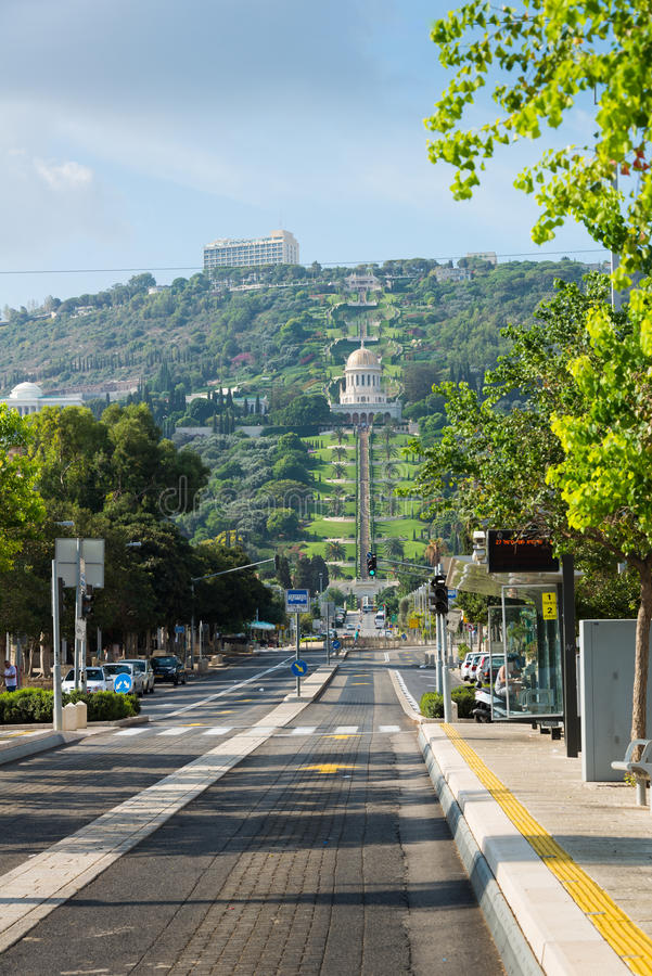 Bahai trädgårdar i Haifa royaltyfri foto
