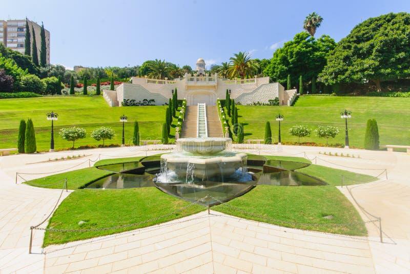 bahai uprawia ogródek Haifa obraz stock