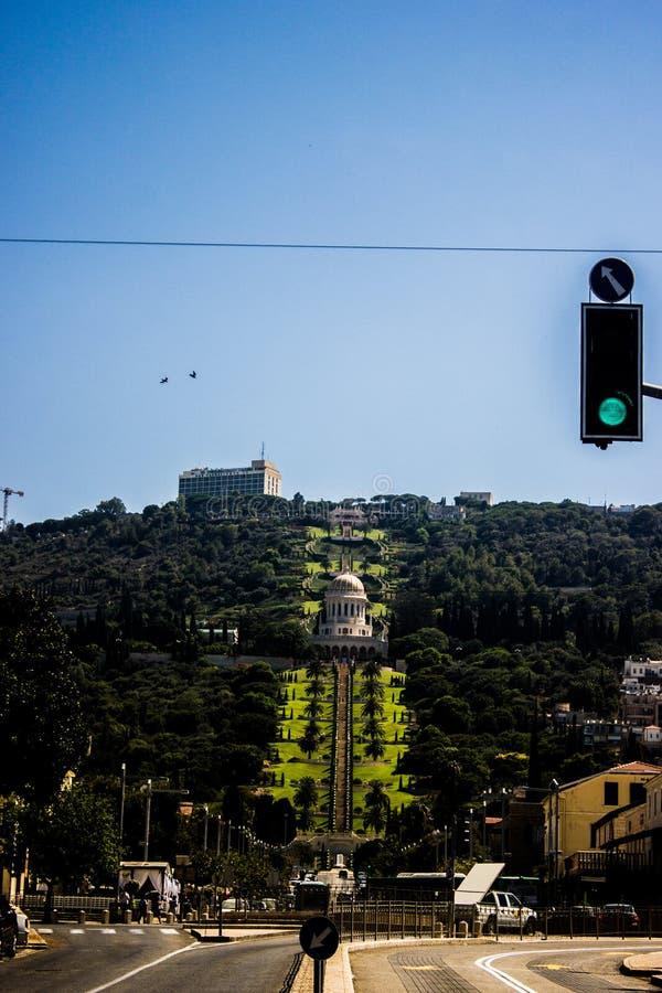 bahai uprawia ogródek Haifa fotografia royalty free