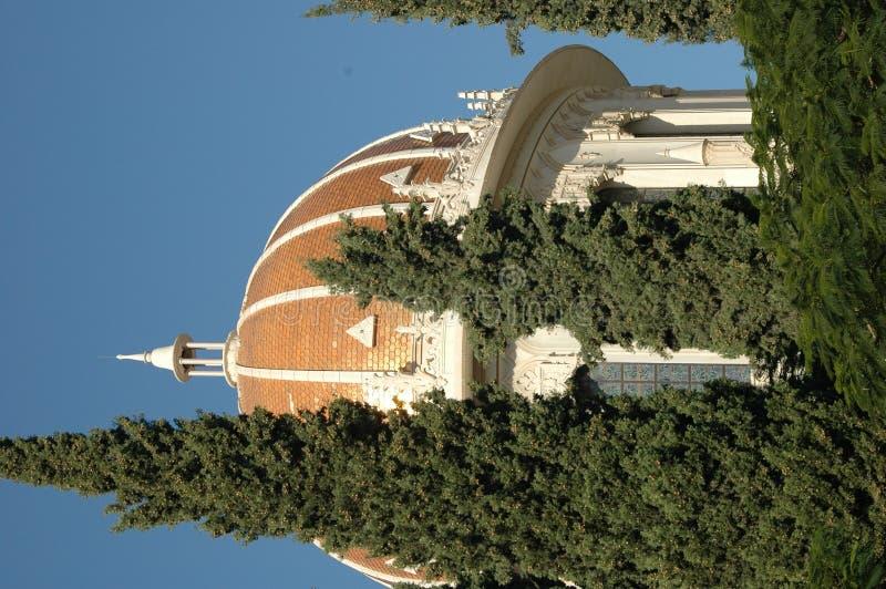 bahaien arbeta i trädgården haifa royaltyfri fotografi
