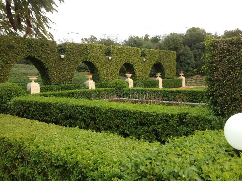 The Bahaii gardens in Acre royalty free stock photos