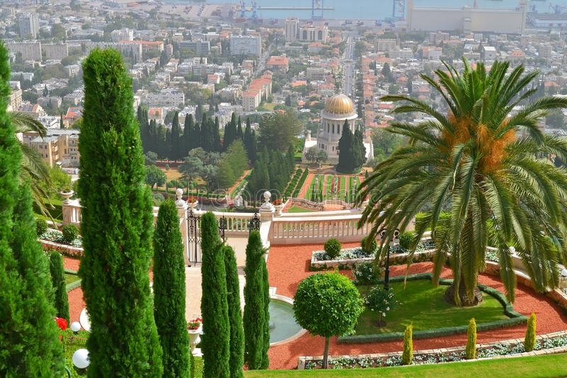 Bahaituinen in Haifa royalty-vrije stock afbeelding
