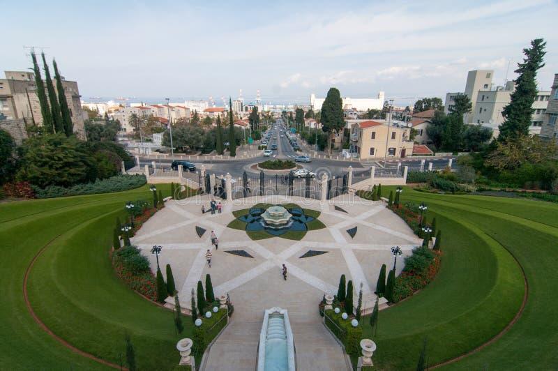 Bahaituinen - Haifa, Israël stock foto's