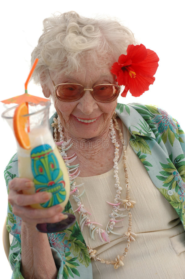 Bahama Mama Granny royalty free stock images