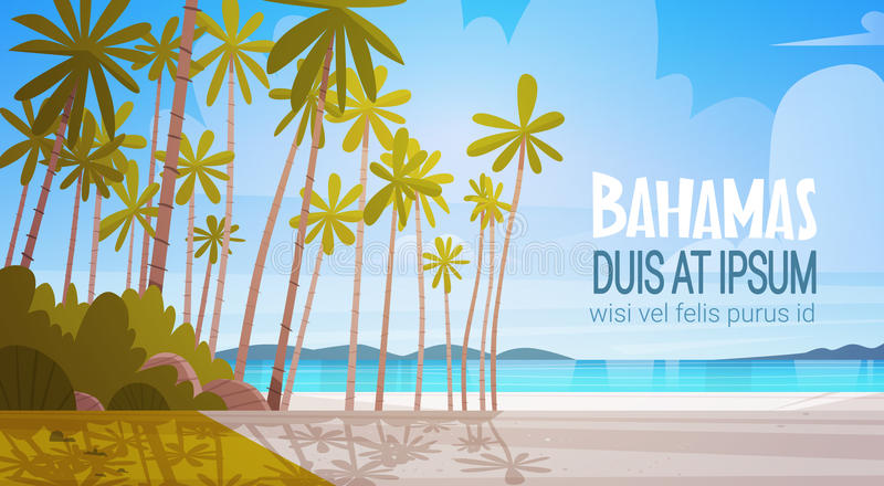 Bahamans όμορφη έννοια θερινών διακοπών τοπίων παραλιών παραλιών ακροθαλασσιών απεικόνιση αποθεμάτων