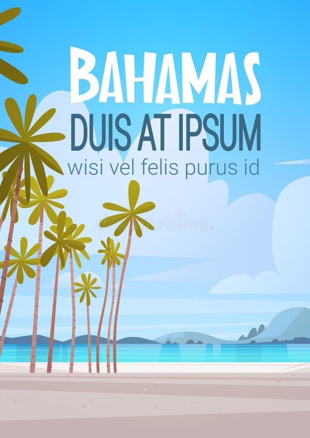 Bahamans Dennego brzeg plaży nadmorski krajobrazu wakacje Piękny pojęcie royalty ilustracja