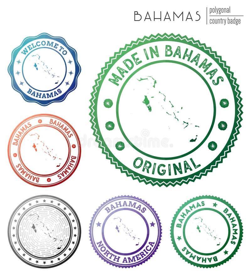 Bahamas emblem royaltyfri illustrationer