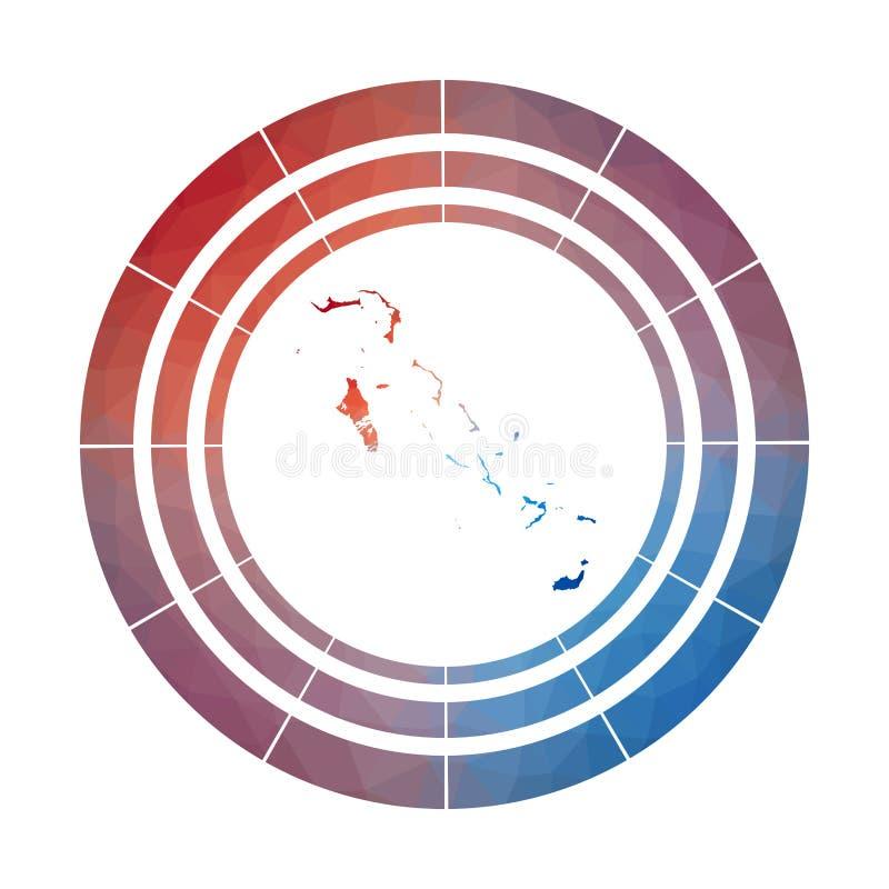 Bahamas emblem stock illustrationer