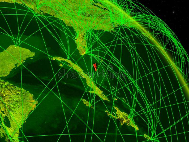 Bahamas en el globo digital libre illustration