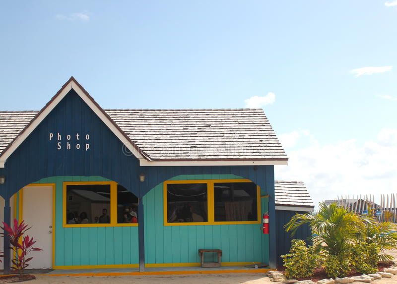 Bahamas Colorful Building Vacation Photo Shop stock images