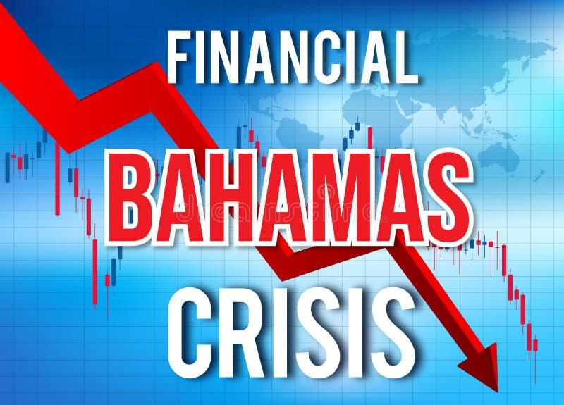 Bahamas Financial Crisis Economic Collapse Market Crash Global Meltdown. Illustration vector illustration