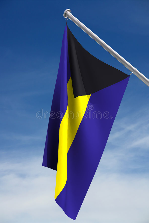 Download Bahamas Flag stock photo. Image of blue, hanging, purple - 2306034