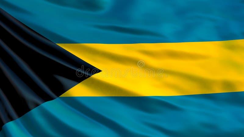 Bahamas flag. Waving flag of Bahamas 3d illustration. Nassau royalty free illustration