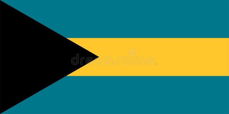 bahamas flagga stock illustrationer