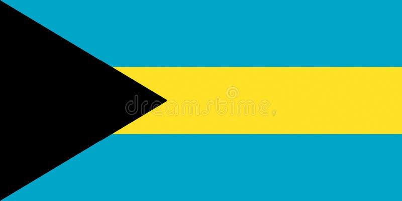 bahamas flagga royaltyfri illustrationer