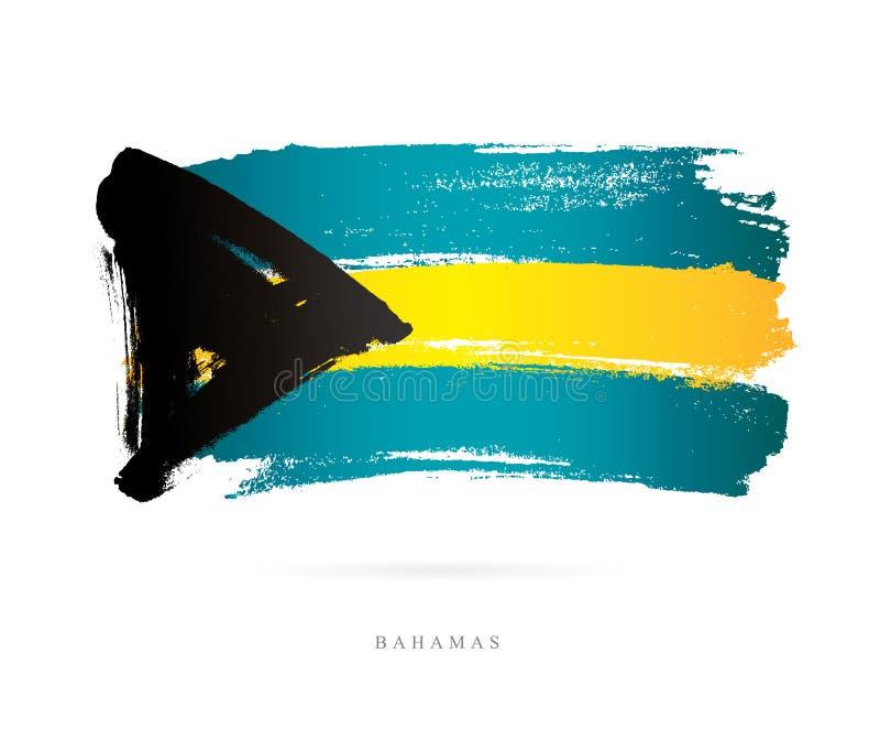 bahamas flagga Abstrakt begrepp royaltyfri illustrationer