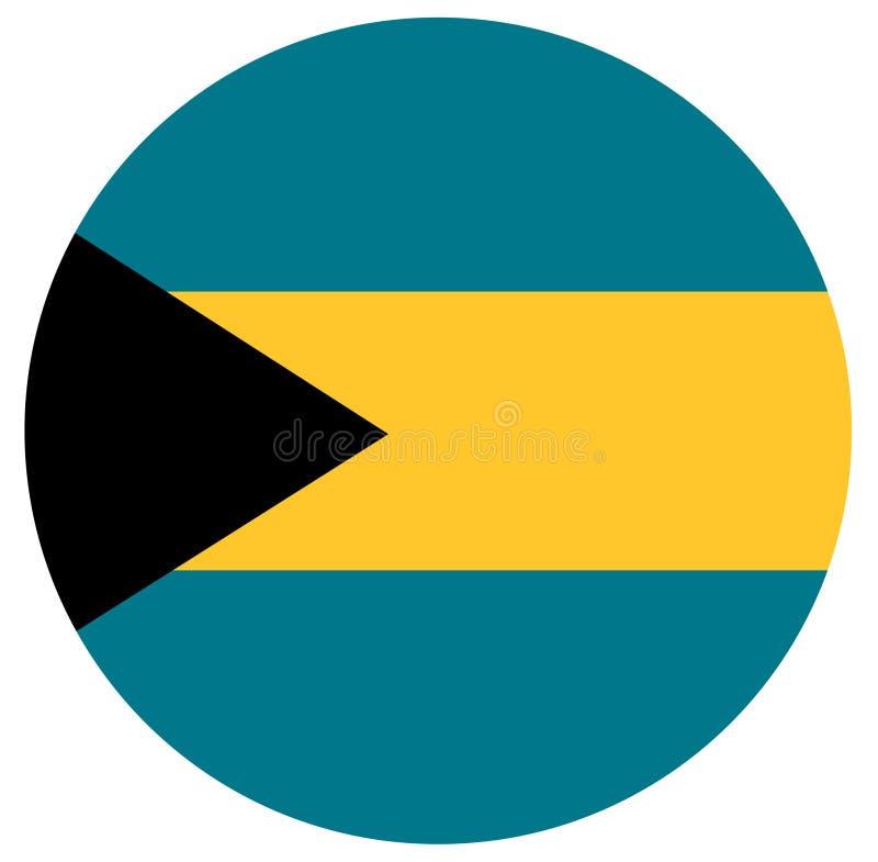 Bahamas flagga - Commonwealth of the Bahamas stock illustrationer