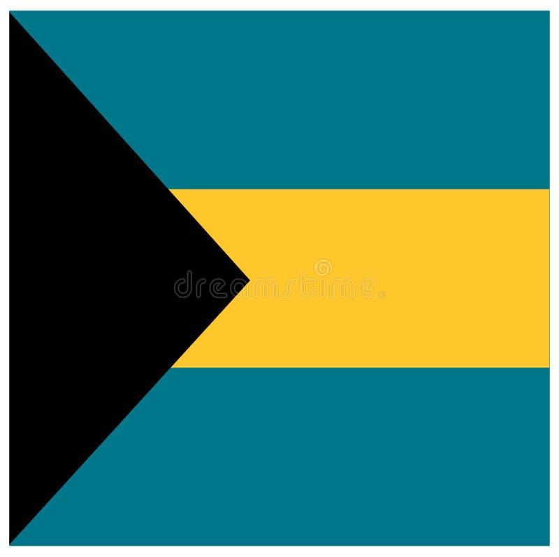 Bahamas flagga - Commonwealth of the Bahamas vektor illustrationer