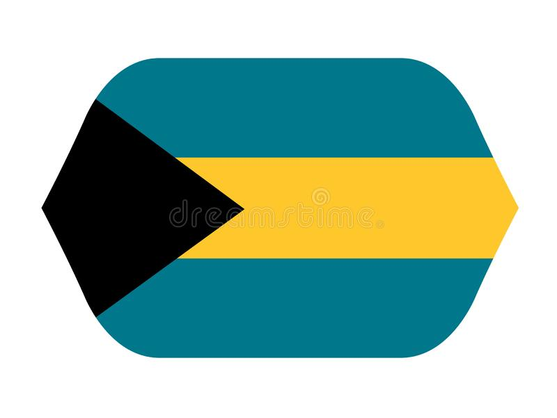 Bahamas flagga - Commonwealth of the Bahamas royaltyfri illustrationer