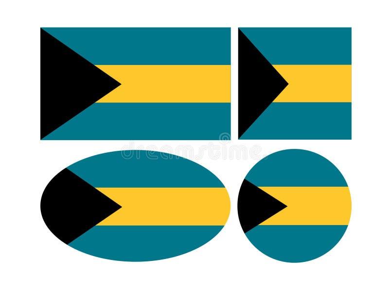 Bahamas flaggor - Commonwealth of the Bahamas stock illustrationer